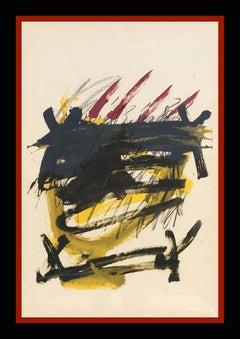 """""""ELS MESTRES DE CATALUNYA"""" 1974 original lithography painting"""