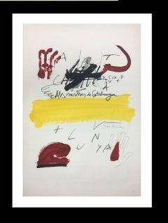 """""""ELS MESTRES DE CATALUNYA"""" original lithograph painting"""