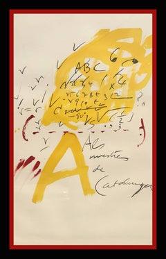 Els mestres de Catalunya original lithography  1974 painting