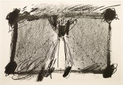 In Two Blacks - Original Lithograph by Antoni Tapies - 1968