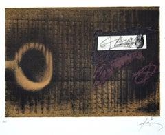 L'Etiquette - Original Lithograph by Antoni Tapiès - 1979