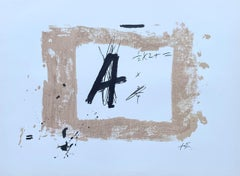 Letter A - Original Lithograph Signed in the Plate