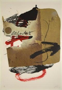 Libertat - 1980s - Antoni Tàpies - Etching - Contemporary