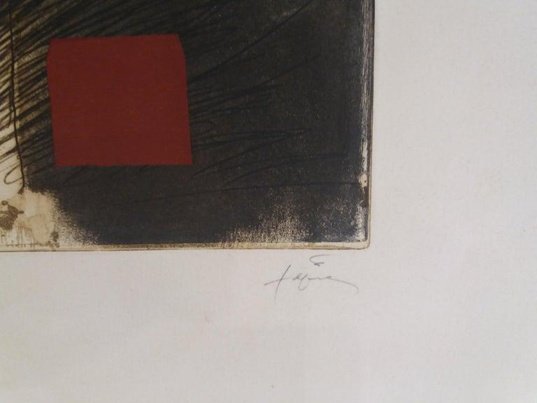LLull i Tapies original engraving painting - Print by Antoni Tàpies