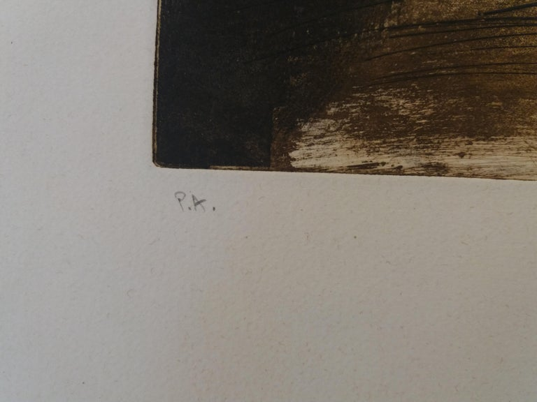 LLull i Tapies original engraving painting For Sale 2