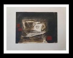LLull i Tapies original engraving painting