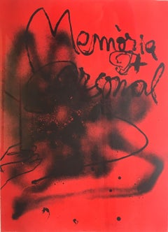 Memoria Personal - Original Lithograph by Antoni Tapies - 1988