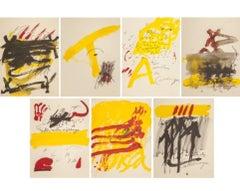 """MESTRES DE CATALUNYA "" lot 7 lithography abstract painting"