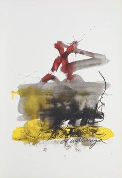 """No. 1 from """"Als Mestres de Catalunya,"""" Lithograph, 1974"""