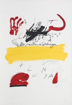 """No. 2 from """"Als Mestres de Catalunya,"""" Lithograph, 1974"""