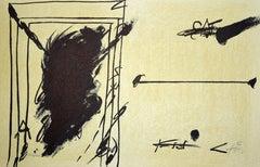 Sans Titre (Untitled) - Original Lithograph by Antoni Tàpies