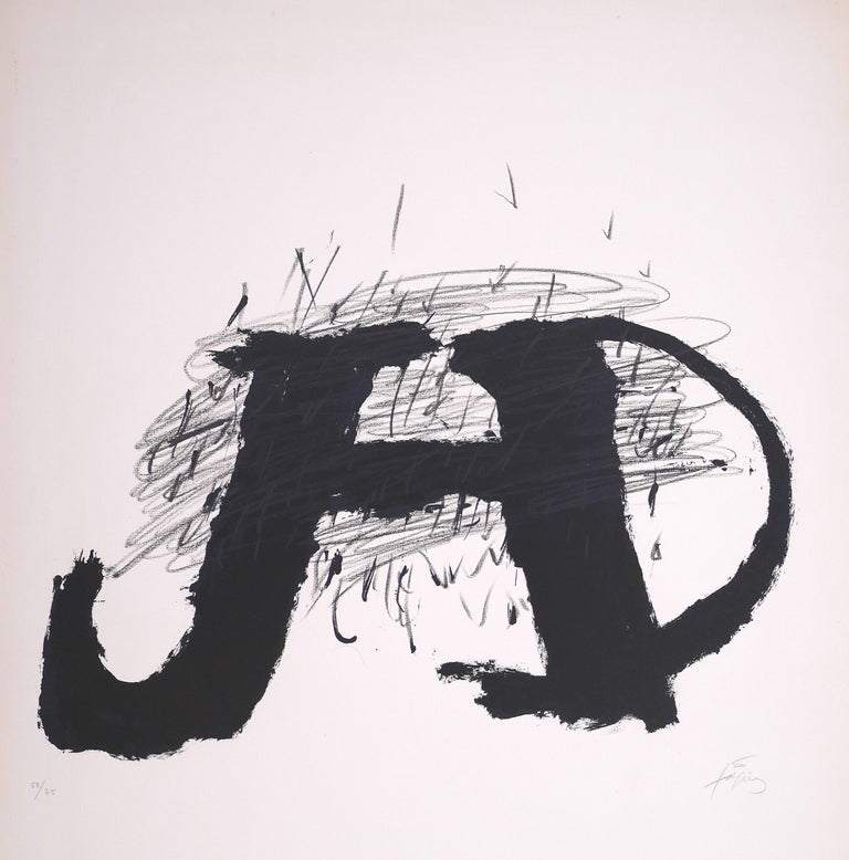 Untitled - Original Lithograph by Antoni Tapies - 1979 - Print by Antoni Tàpies