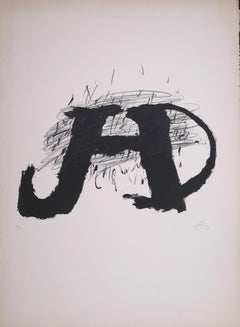 Untitled - Original Lithograph by Antoni Tapies - 1979