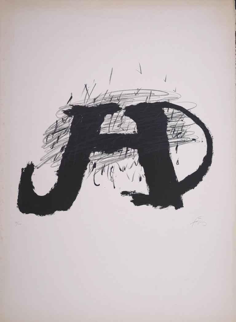 Antoni Tàpies Abstract Print - Untitled - Original Lithograph by Antoni Tapies - 1979