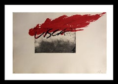 Visca original engraving abstract paintiong