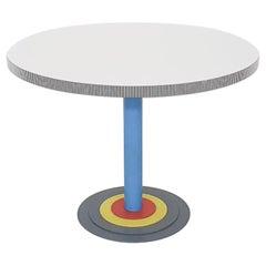 """Antonia Astori for Driade Round """"Kroma"""" Dining Table, Italy, 1983"""