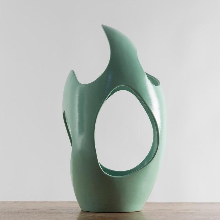 Rare green earthenware umbrella stand model C33