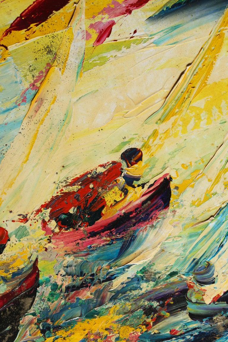Into the Waves - Painting by Antonia Mastrocristino Sirena
