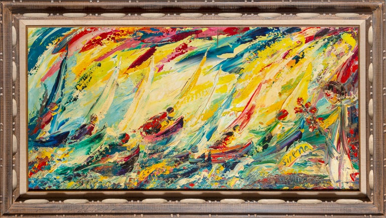 Antonia Mastrocristino Sirena Landscape Painting - Into the Waves