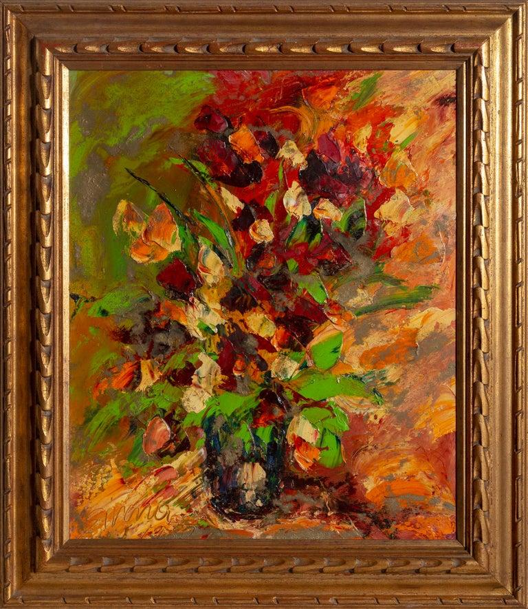 Antonia Mastrocristino Sirena Figurative Painting - July Flowers