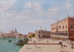 19th Century Landscape Painting of Venice 'Doges Palace' by Antonietta Brandeis