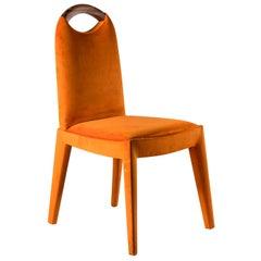 Antonietta Orange Chair by Simone Ciarmoli and Miguel Queda
