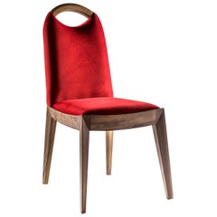 Antonietta Red Chair by Simone Ciarmoli and Miguel Queda