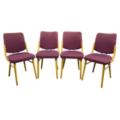 Antonin Suman, Set of Four Bentwood Dinning Chairs by Ton, Czechoslovakia