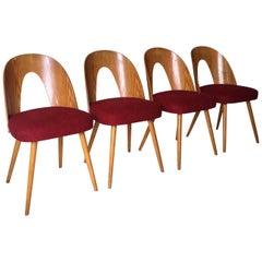 Antonin Suman Set of Four Mid-Century Dining Room Chairs for Tatra Nabytok