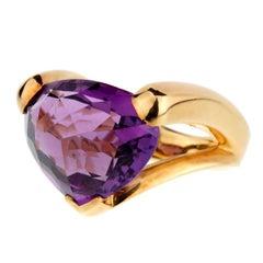 Antonini Amethyst Gold Cocktail Ring