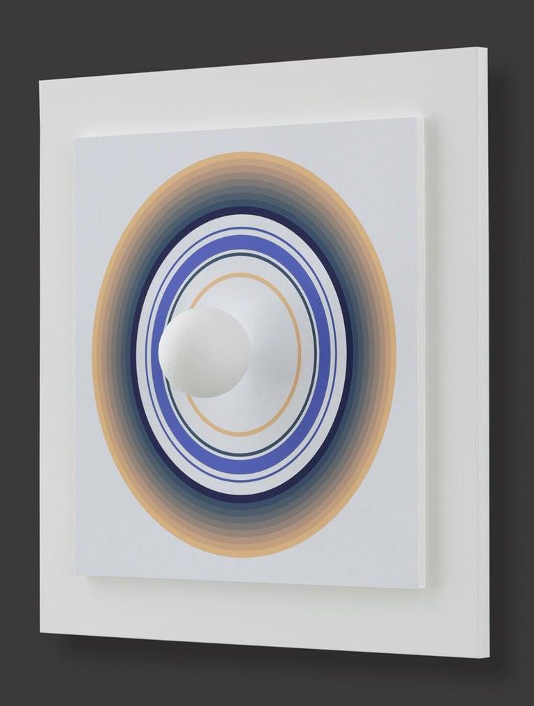 Asistype 4 - boule sur cercle - Op Art Mixed Media Art by Antonio Asis