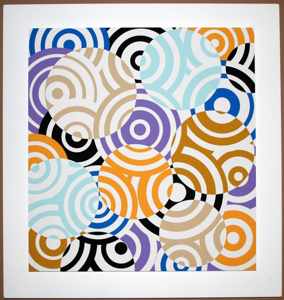 Interferences cercles de couleurs