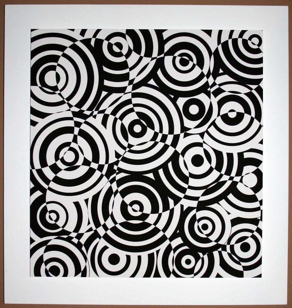 Interferences cercles noir et blanc