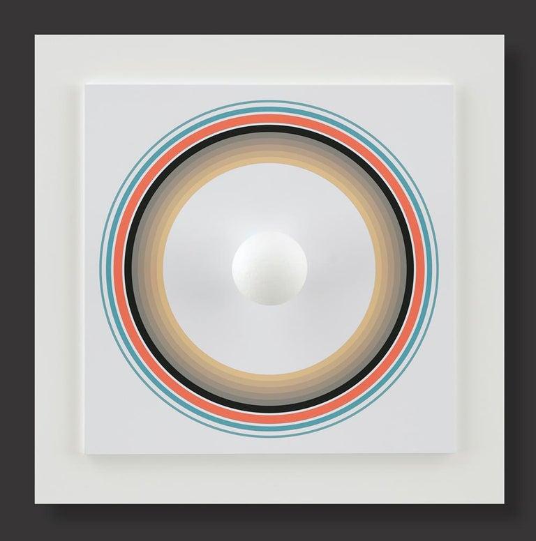Antonio Asis Abstract Sculpture - Asistype 10 - boule sur cercle