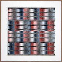 Vibration bandes bleus et rouges