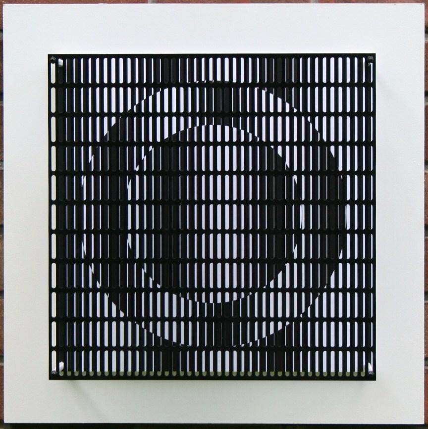 Vibration cercles noir et blanc
