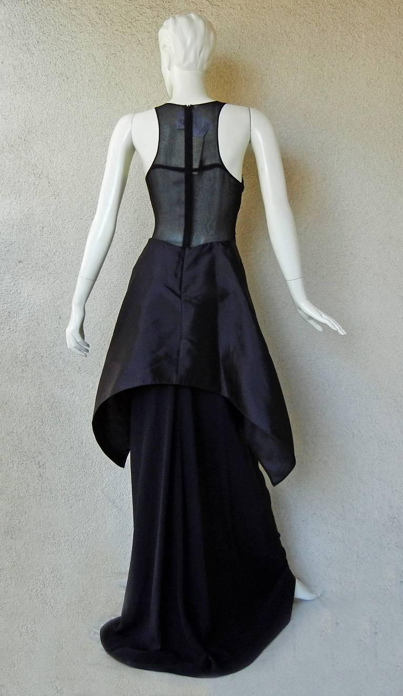 Women's Antonio Berardi Beaded Black Runway Dress Gown   New! For Sale