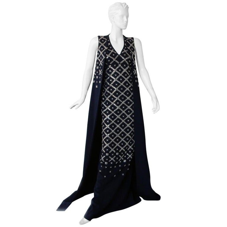 "Antonio Berardi Grand ""Finale"" Runway Jeweled Dress Gown For Sale"