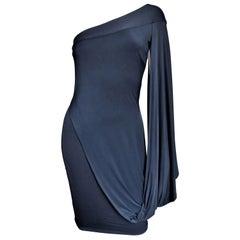 Antonio Berardi New Silk Drape One Sleeve Dress