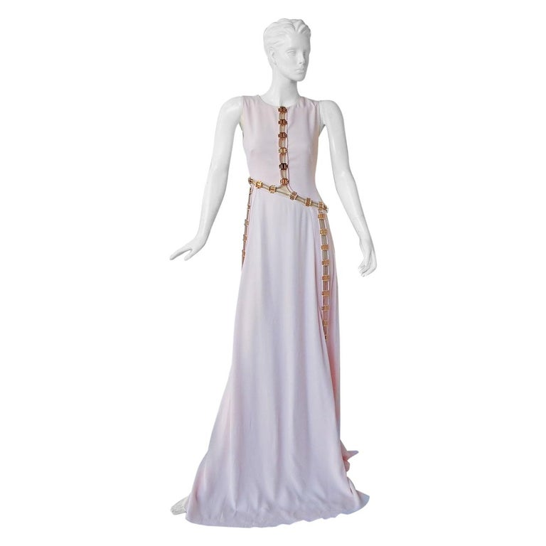 "Antonio Berardi ""Pretty in Pink""  Asymmetric Gown w/Rose Gold Hardware  NWT"
