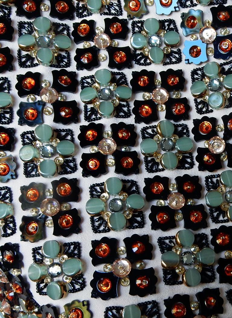 Antonio Berardi Spectacular Boho Chic Beaded Voluminous Dress Gown  Rare! For Sale 1