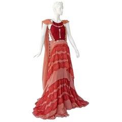 Antonio Berardi Stunning Boho Chic Voluminous Dress Gown   New