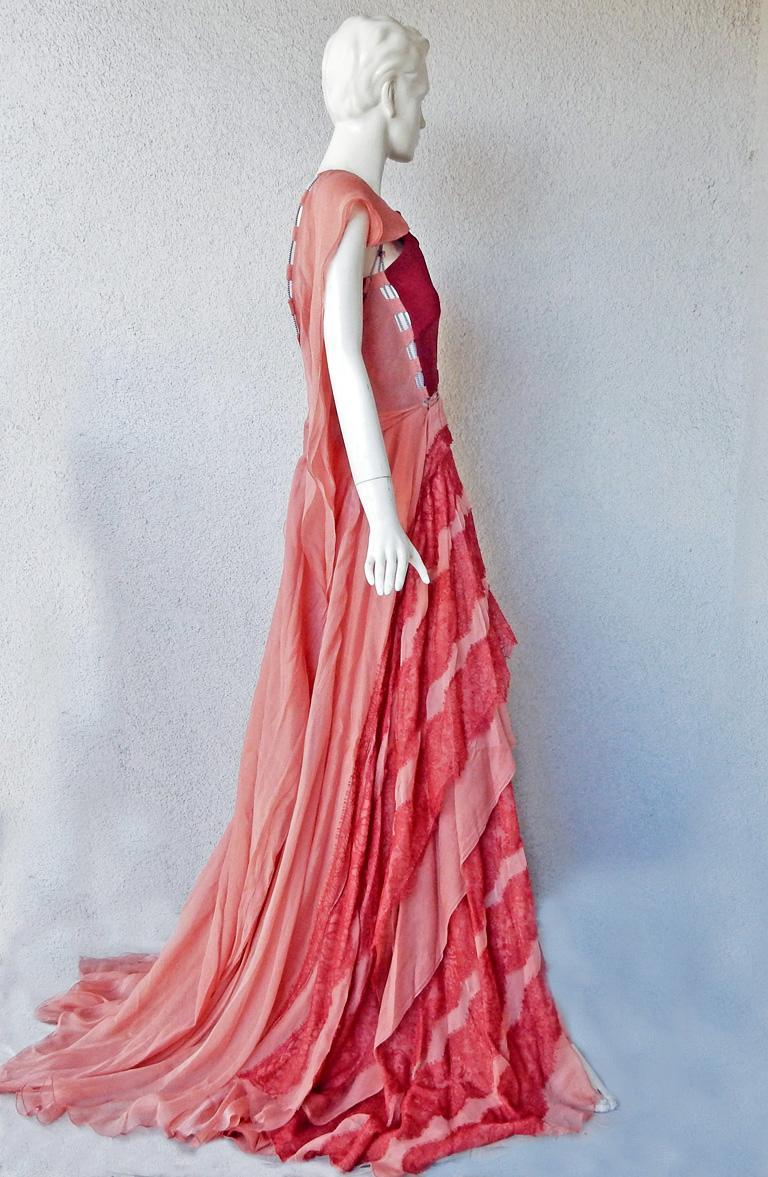 Women's Antonio Berardi Stunning Runway Boho Chic Voluminous Dress Gown   New For Sale