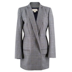 Antonio Berardi wool houndstooth long blazer IT 42