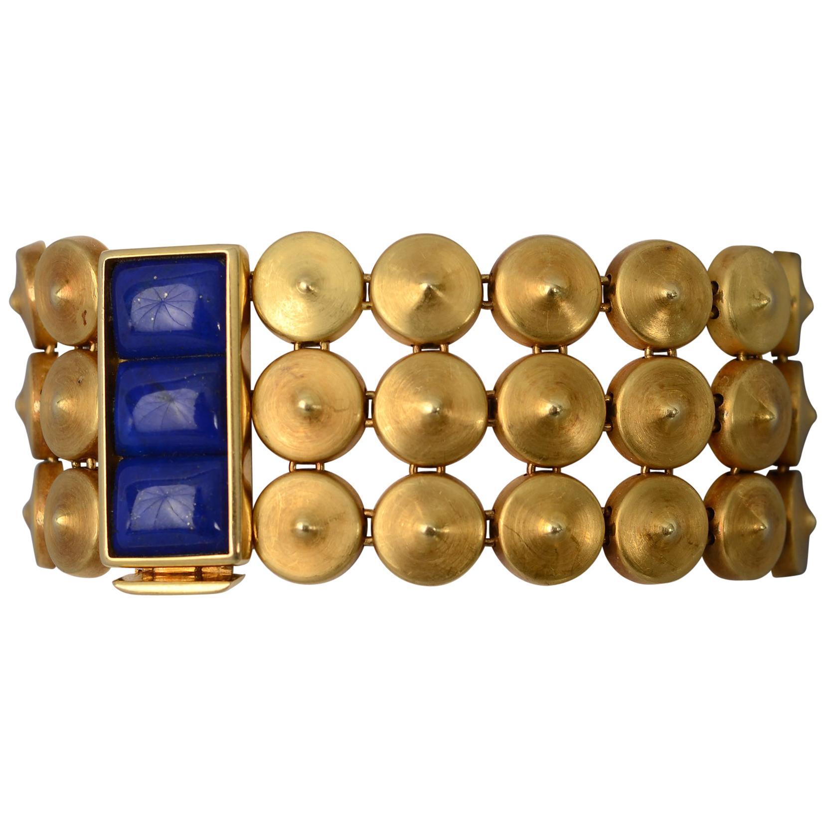 Antonio Bernardo Gold and Lapis Lazuli Bracelet