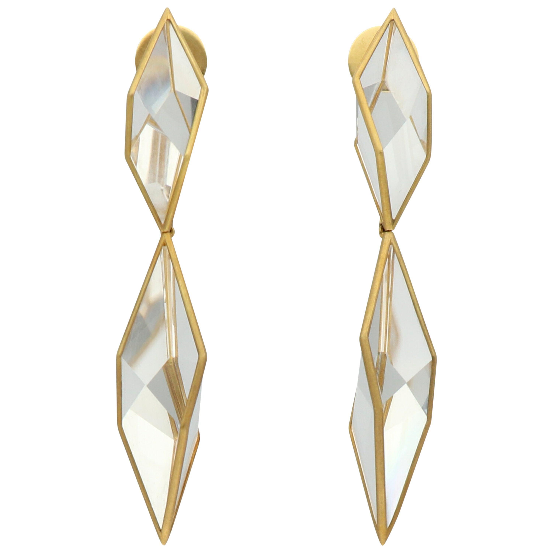 Antonio Bernardo 'Prisma' Gold Quartz Crystal Earrings