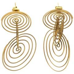 Antonio Bernardo 'Ressonância' Gold Earrings