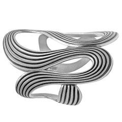 Antonio Bernardo, Silber Spirale Manschettenarmband