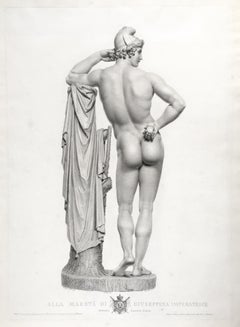 Pair of Engravings of the Statue of Paris