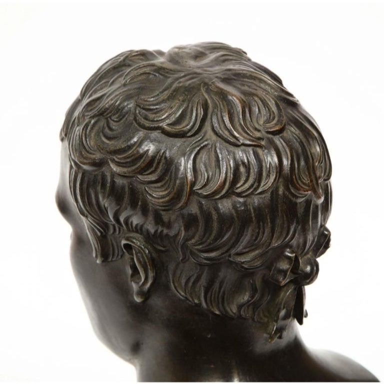 Exquisite French Patinated Bronze Bust of Emperor Napoleon I, after Canova For Sale 7